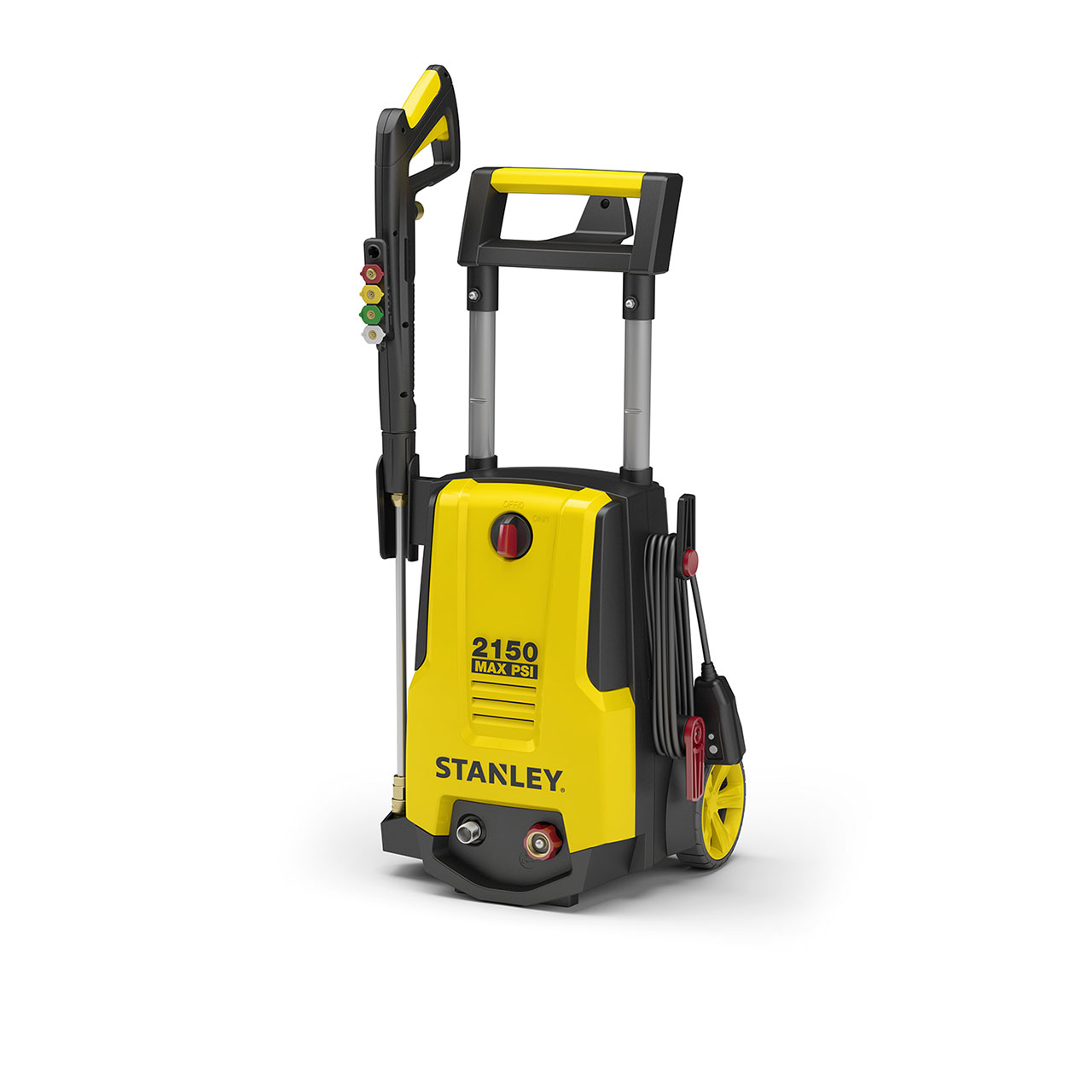 Stanley SHP2150 PSI Electric Pressure Washer with Spray Gun, Wand, Hose, Nozzles & High Pressure Foam Cannon (Yellow)
