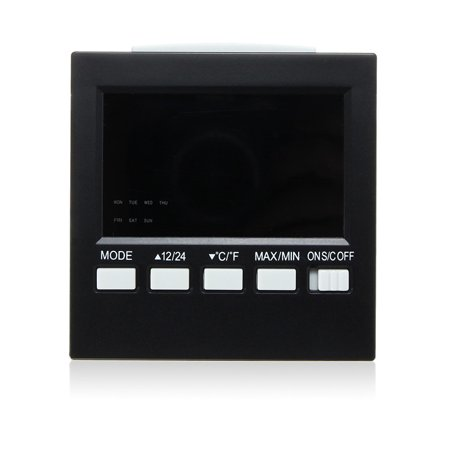 LCD Mini Digital Thermometer Hygrometer Humidity Room Weather Meter Indoor Clock - image 1 of 8