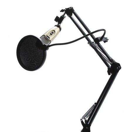 cad u37 usb mic w knox desktop boom arm stand pop filter. Black Bedroom Furniture Sets. Home Design Ideas