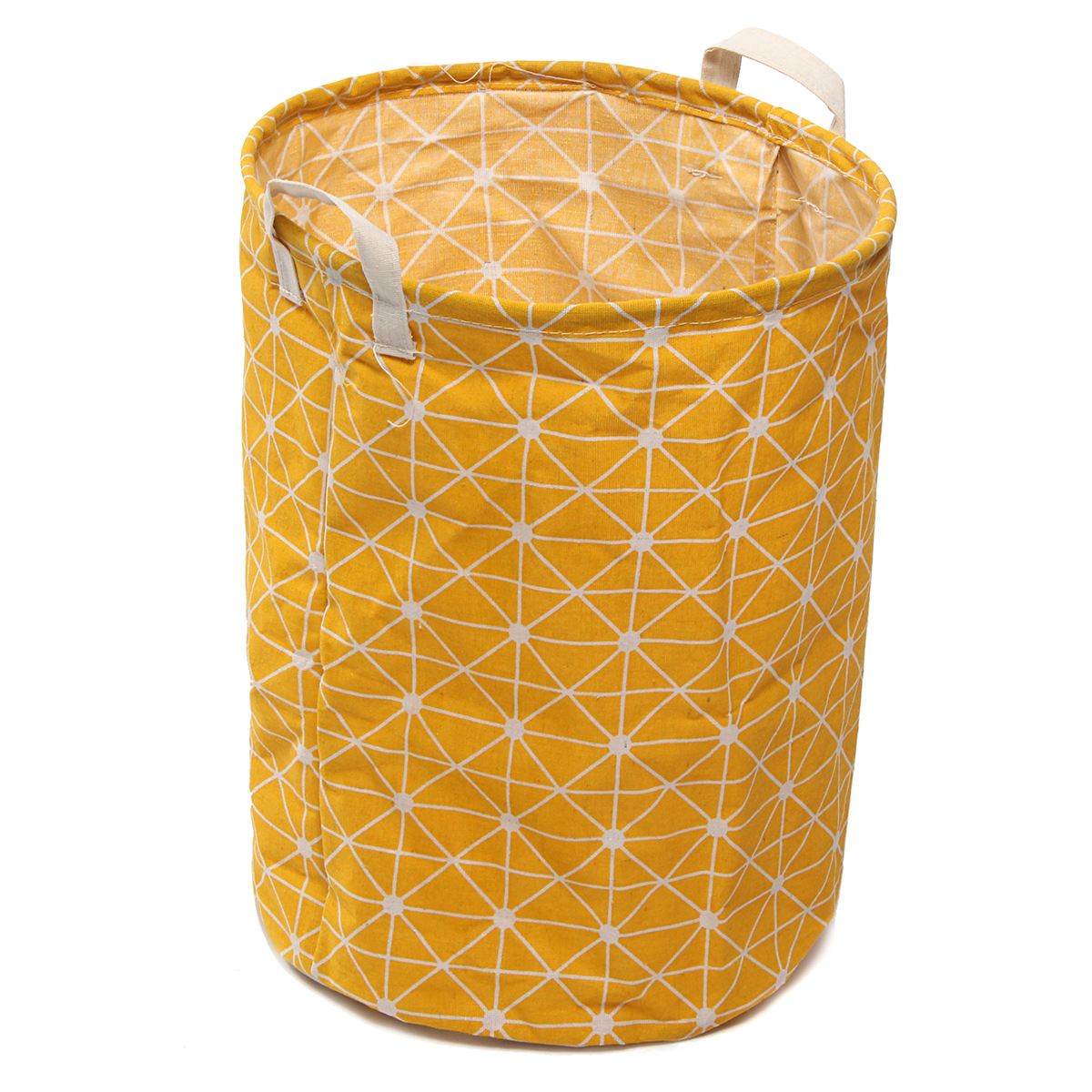Cotton Linen 35x45cm Foldable Washing Dirty Clothes Laundry Basket Hamper Canvas Toy Storage Organizer Bag Home Household 13.78 x 17.72''