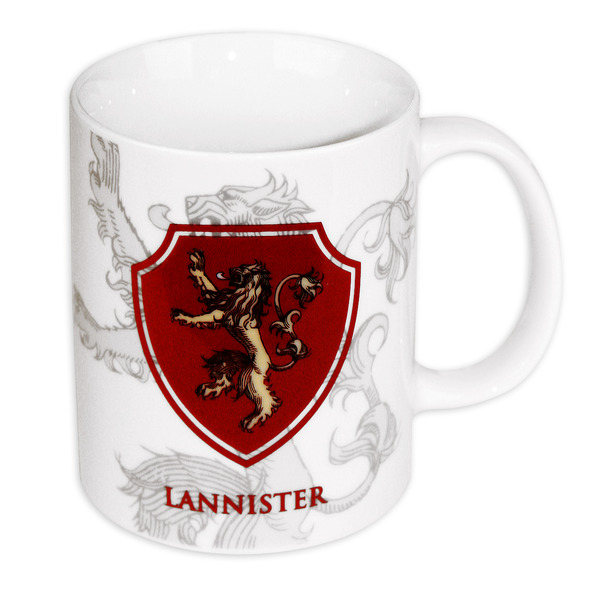 Game Of Thrones - Ceramic Coffee Mug / Cup (Lannister House Crest / Lion)