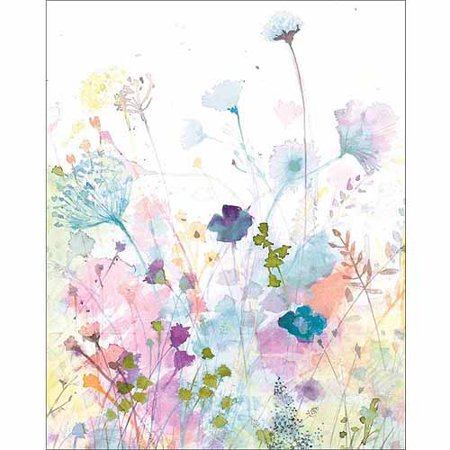 cbdce5cbb8afe Watercolor Nature Floral Botanical Silhouette Painting Purple & White  Canvas Art by Pied Piper Creative