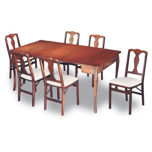 Meco Traditional Expanding Dining Table Set - Cherry