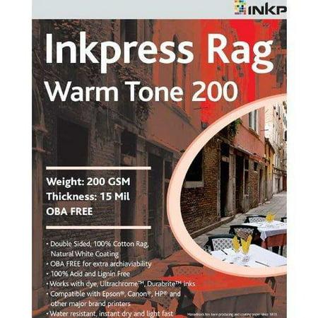 Inkpress Watercolor Rag Paper - Inkpress Rag Digital Paper - Warm Tone, 200 gsm, 13