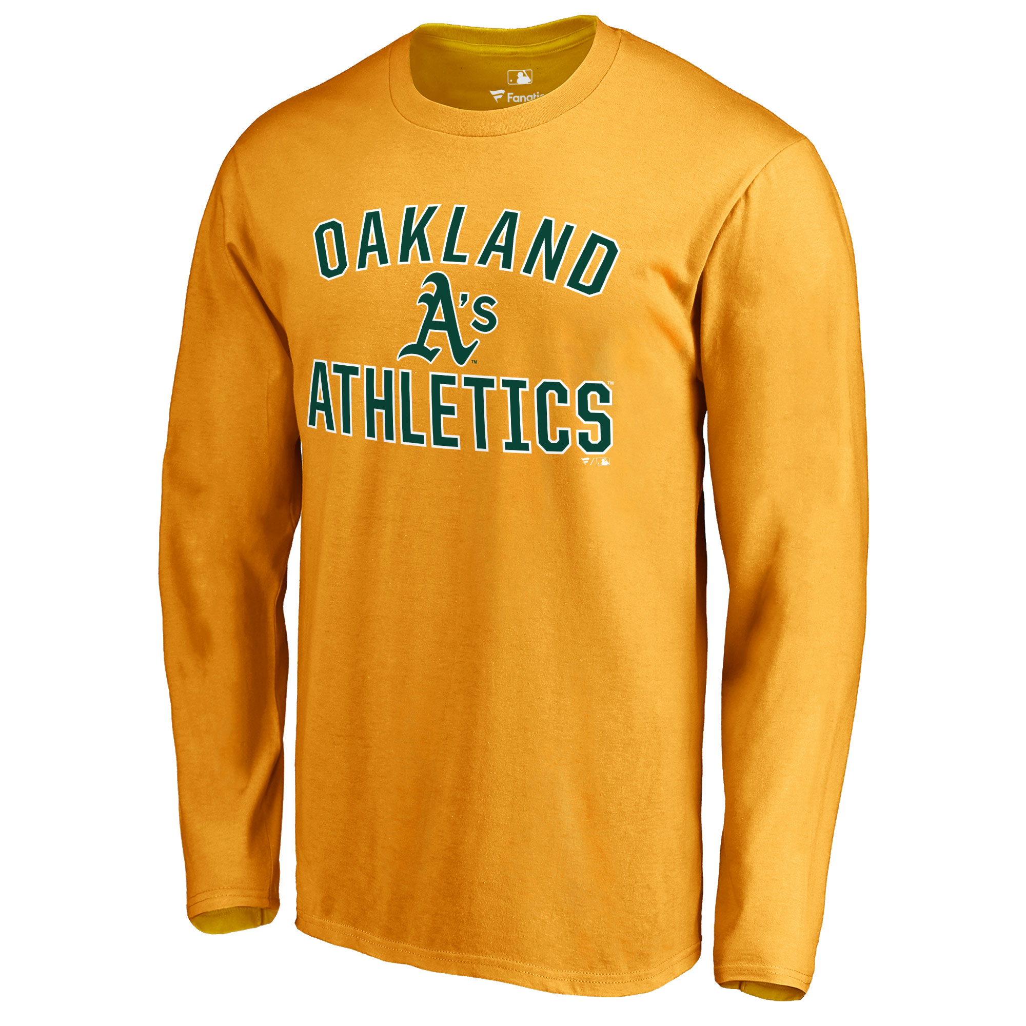 Oakland Athletics Victory Arch Long Sleeve T-Shirt - Gold
