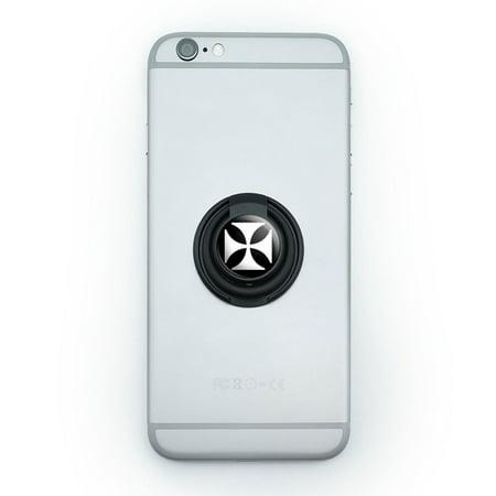 Iron Maltese Cross Mobile Phone Ring Holder Stand
