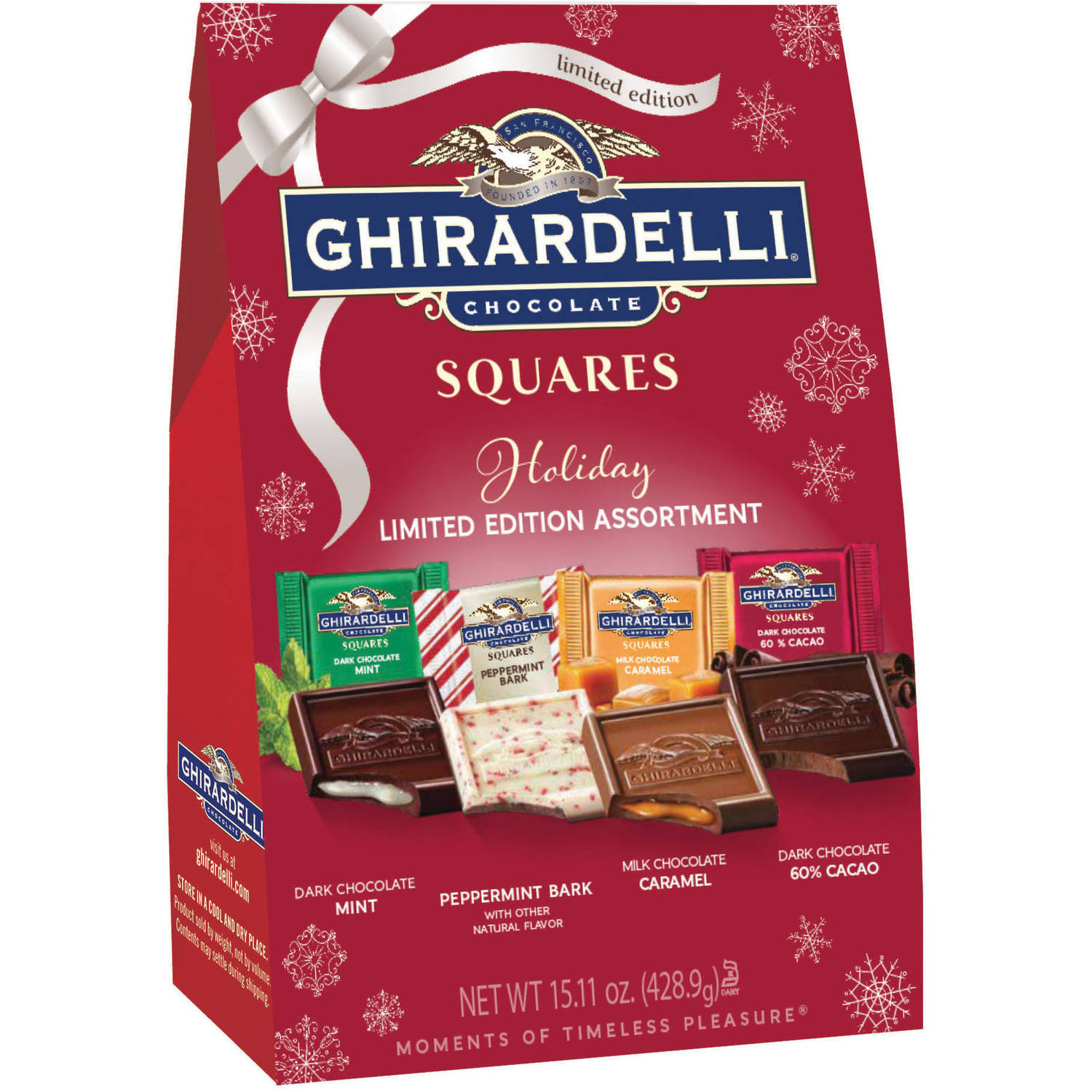Ghirardelli Chocolate Limited Edition Holiday Squares, 15.11 oz