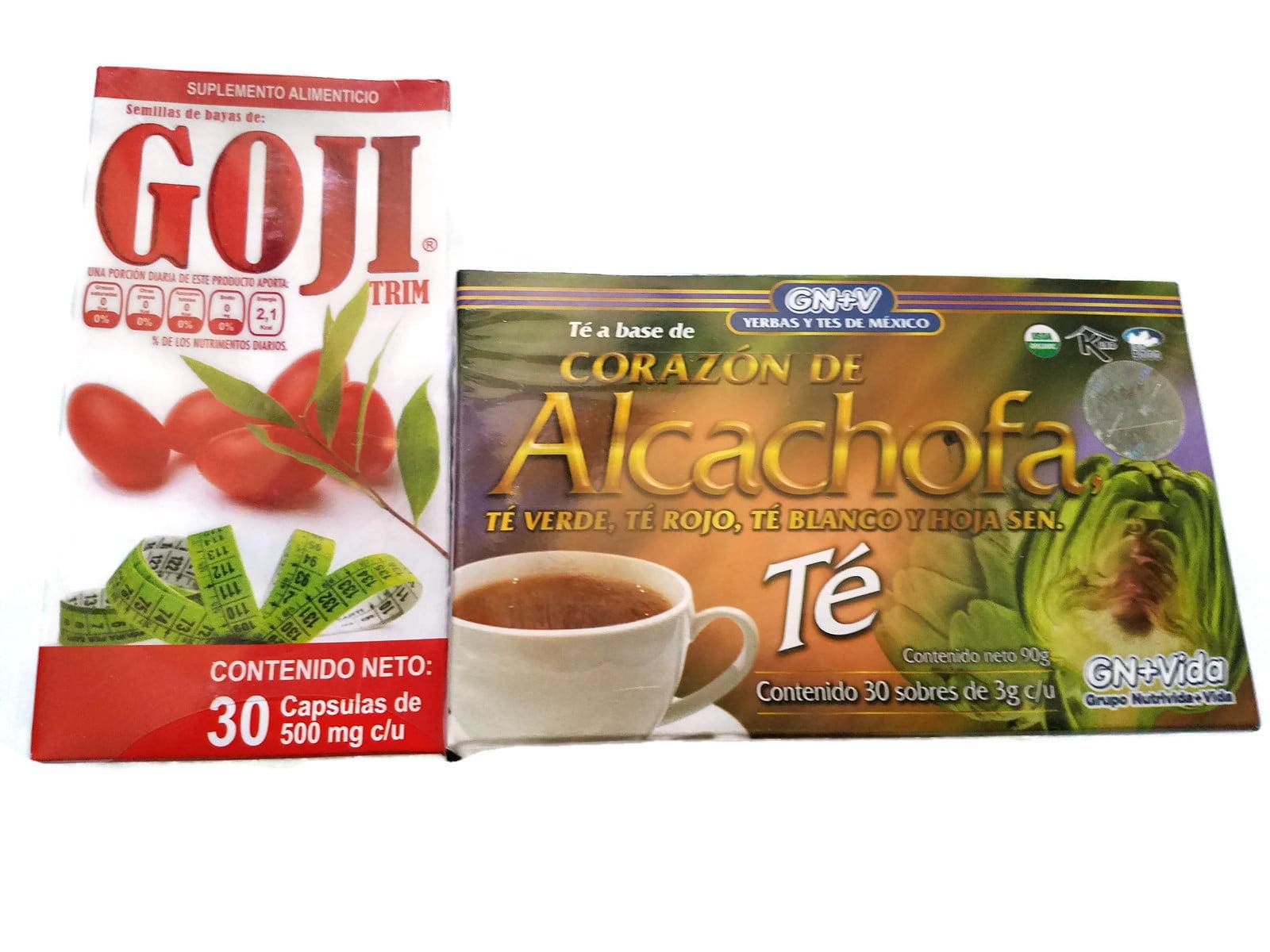 Alcachofa Tea Y Goji Trim Weight Loss Set 30 Day Supply