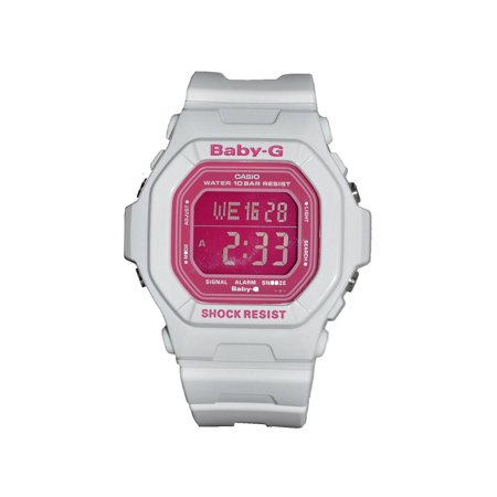 Baby-G Womens Shock Resistant digital Watch - White/Pink - BG-5601-7DR ()