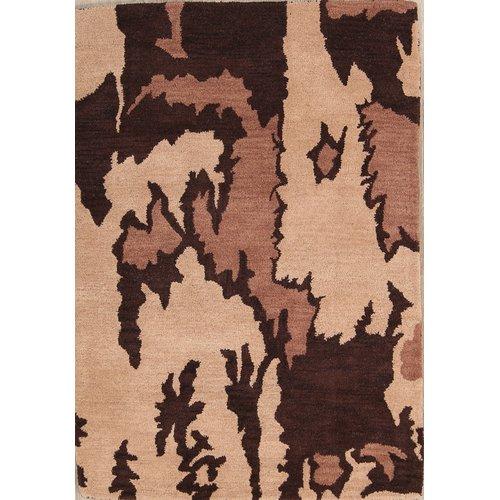 Bloomsbury Market Haedus Oushak Indian Oriental Hand-Tufted Wool Beige/Brown Area Rug