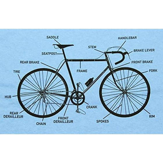 ae2c624f Thread Science - Bike Anatomy Funny Bicycle Adult Mens T-shirt ...