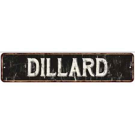 Dillard Street Sign Rustic Chic Sign Home Man Cave Decor Gift Black M41803865
