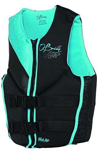 O'Brien Focus Women's Neoprene Life Jacket, Aqua, Medium by