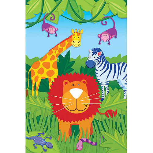 Jungle Animals Party Game Poster (1ct)