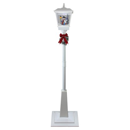 Northlight Lighted Musical Snowman Vertical Christmas Street Lamp ()
