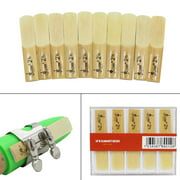 Lade 10pcs Pieces Reed Strength 2.5 2-1/2 Reed Bamboo for Traditional bB Clarinet Accessories
