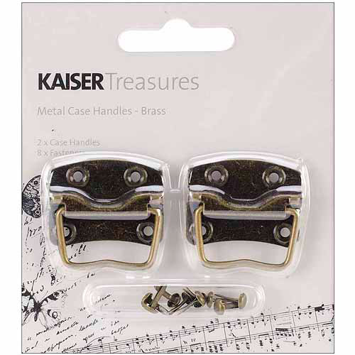 """Kaisercraft Treasures Metal Case Handle With Backplate, 1-1/4"""" x .875"""""""
