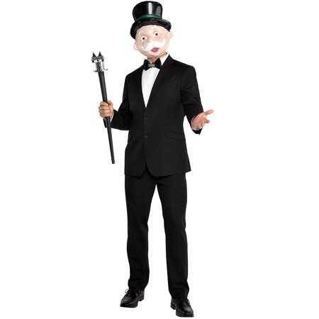 Halloween City Bellevue (Party City Mr. Monopoly Halloween Costume Accessory Kit for Adults, Standard)