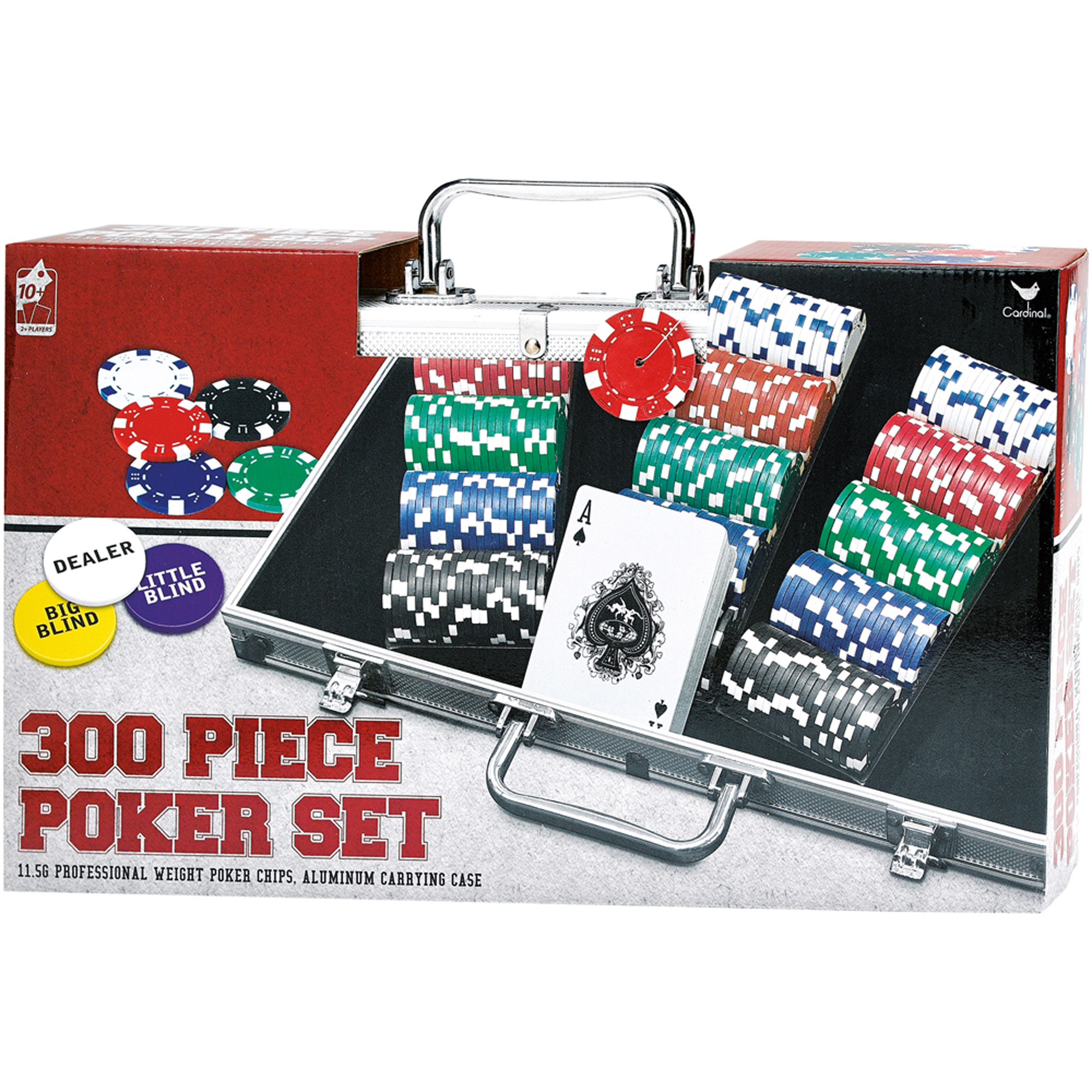 300 Piece Poker Set in Aluminum Carrying Case by Cardinal