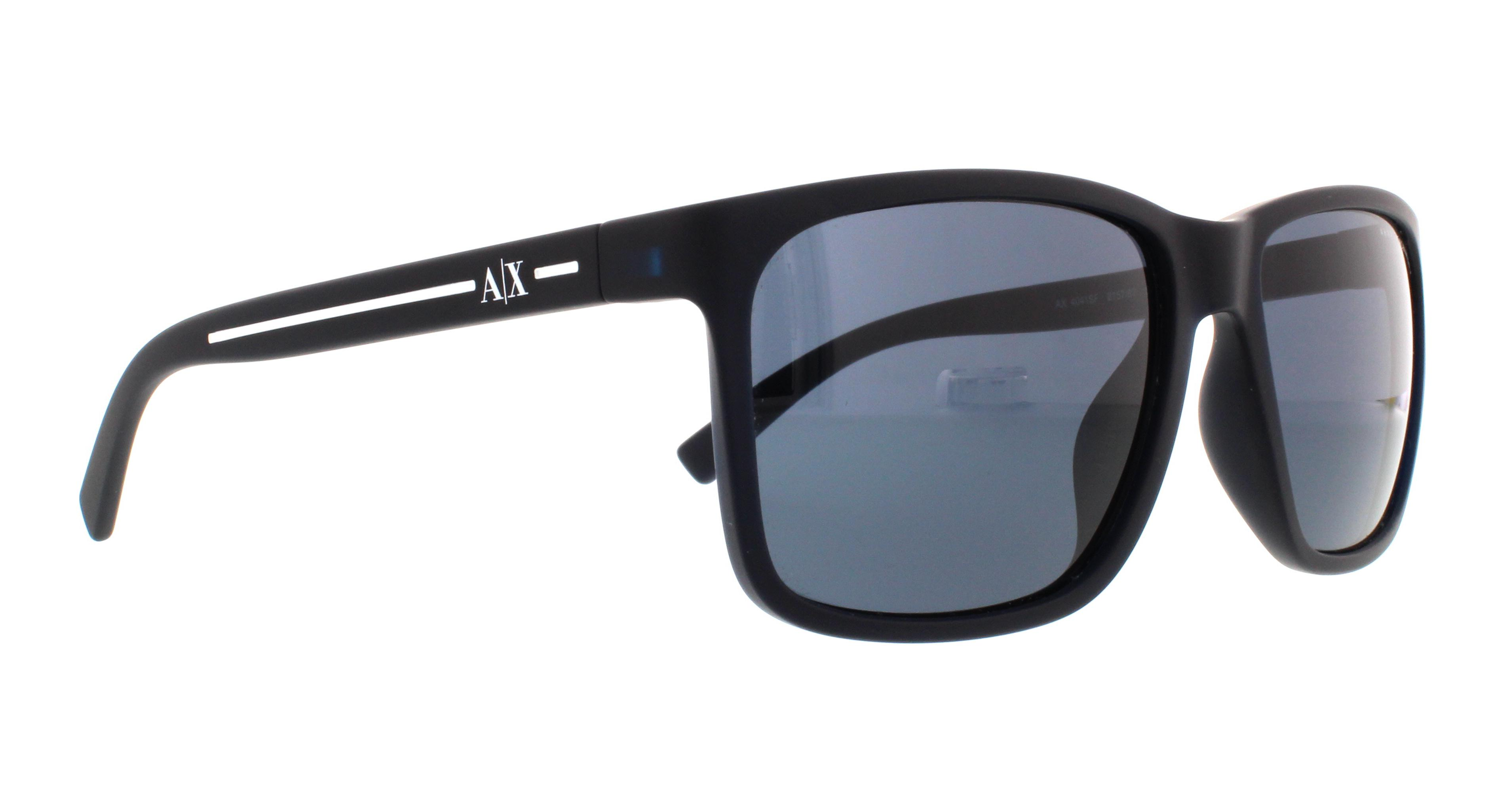 85bc9648ae620 ARMANI EXCHANGE - ARMANI EXCHANGE Sunglasses AX 4041SF 815787 Matte Blue  58MM - Walmart.com