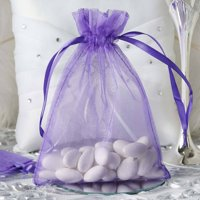 """Efavormart 50PCS  Organza Gift Bag Drawstring Pouch for Wedding Party Favor Jewelry Candy Sheer Organza Bags - 5""""x7"""""""