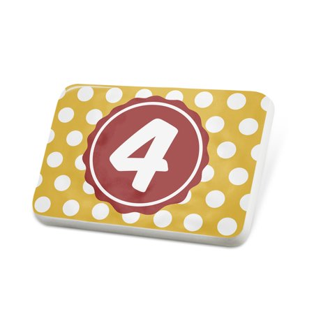 Porcelein Pin Monogram 4 Dark Yellow Polka Dots Lapel Badge – NEONBLOND Mens Pin Dot