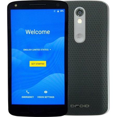 Motorola Droid Turbo 2 32GB Unlocked 4G LTE Smartphone Soft Grip Black  XT1585 (Refurbished)