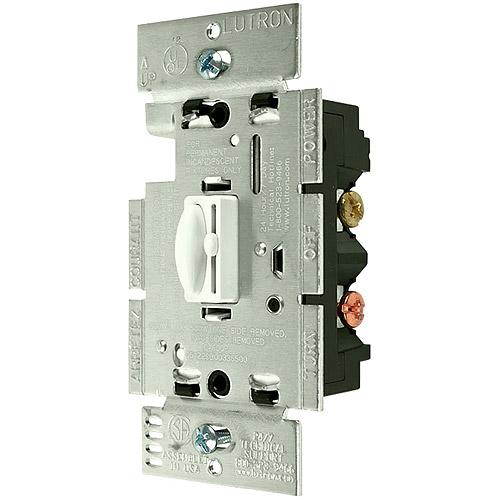 Lutron Qoto 600-Watt 3-Way Dimmer & Switch, White