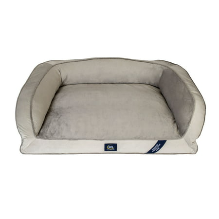 Sertapedic Extra Large Memory Foam Couch Pet Bed Grey