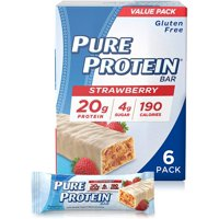 Pure Protein Bars, Strawberry Greek Yogurt, 20g Protein, 1.76 Oz, 6 Ct