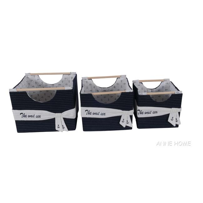 Old Modern Handicrafts AB011 Foldable Fabric Basket Pack of 3 by Old Modern Handicrafts