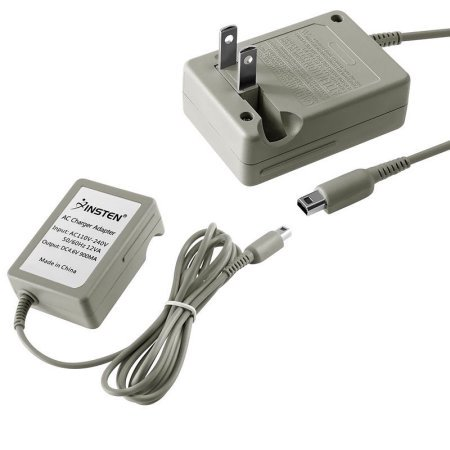 Nintendo Ds Replacement Charger (Insten Travel AC Wall Charger for Nintendo NEW 3DS XL / DSi / DSiXL / DSiLL / 3DS XL LL 2DS 3DS (Premium Rapid Folding Power)