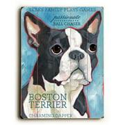 Artehouse LLC Boston Terrier by Ursula Dodge Graphic Art Plaque