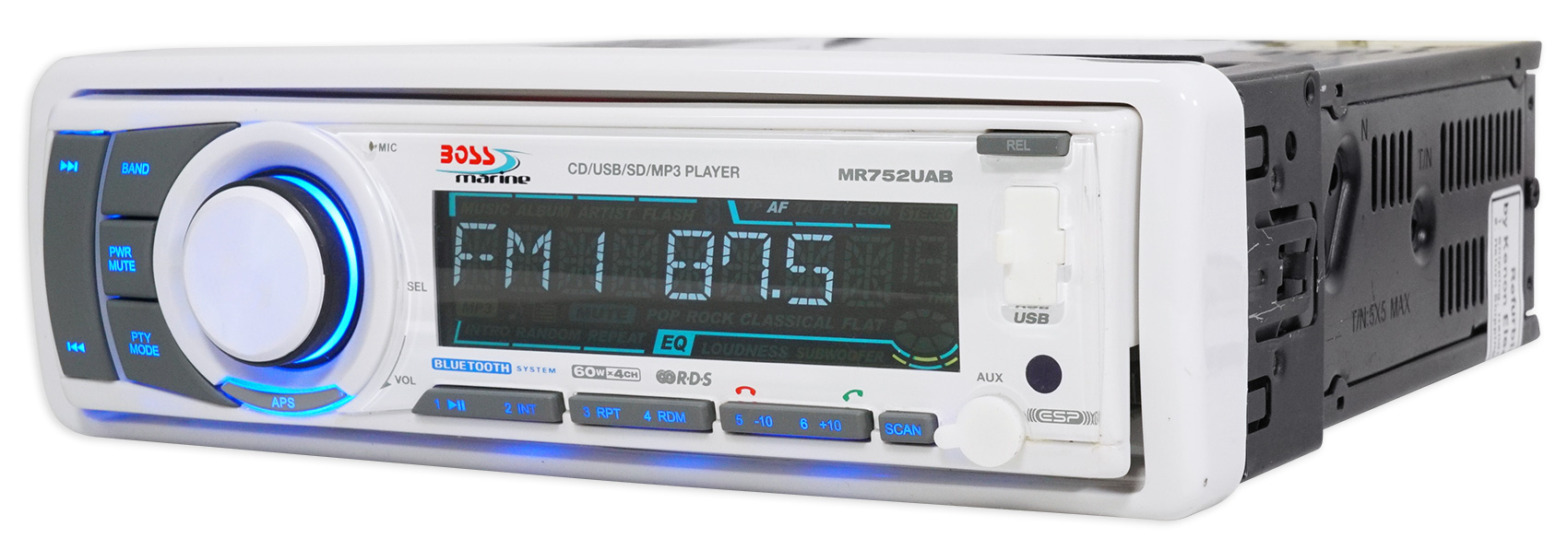 Boss MR752UAB Marine CD//MP3//USB//SD//Radio Player Receiver w//Bluetooth Remote