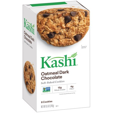 Kashi Soft-Baked Oatmeal Dark Chocolate Cookies, 8.5 Oz., 8 Count Chocolate Semi Sweet Cookies