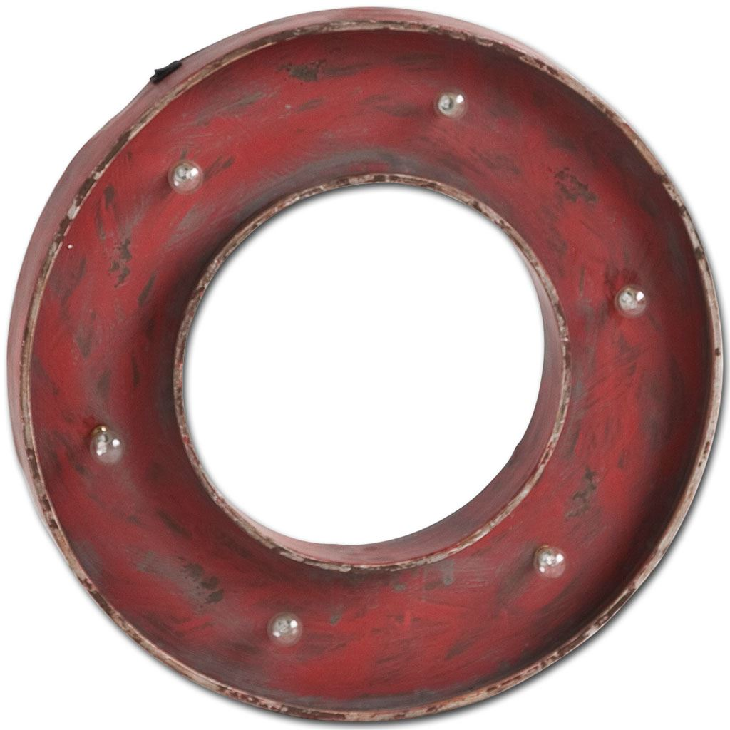 Mercana Industrial Wall Decor With Red Finish 44234