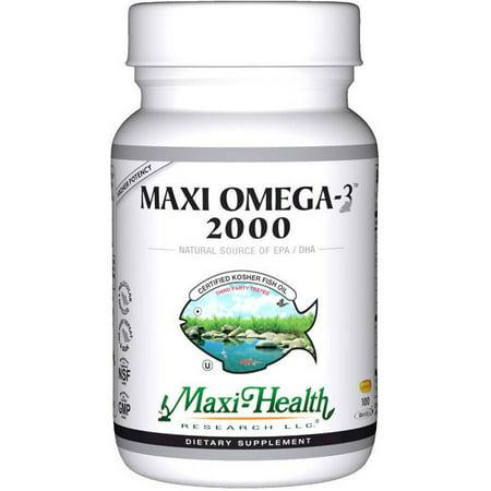 Maxi-Health Maxi Omega-3 2000, Fish Oil, Kosher, 100ct