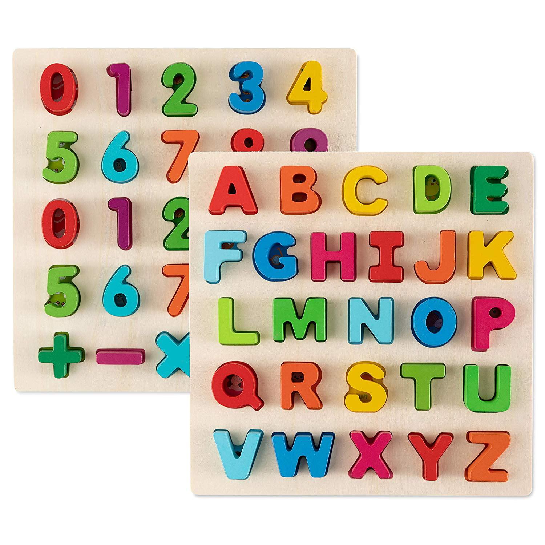 Toy To Enjoy Alphabet Puzzles - Wooden Upper Case Letter ...