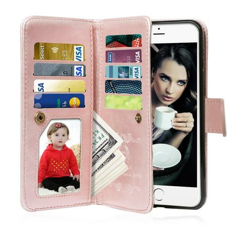 new styles 95552 16316 iPhone 6S Case, iPhone 6 Case, Vofolen 2 in 1 iPhone 6S Wallet Case ...