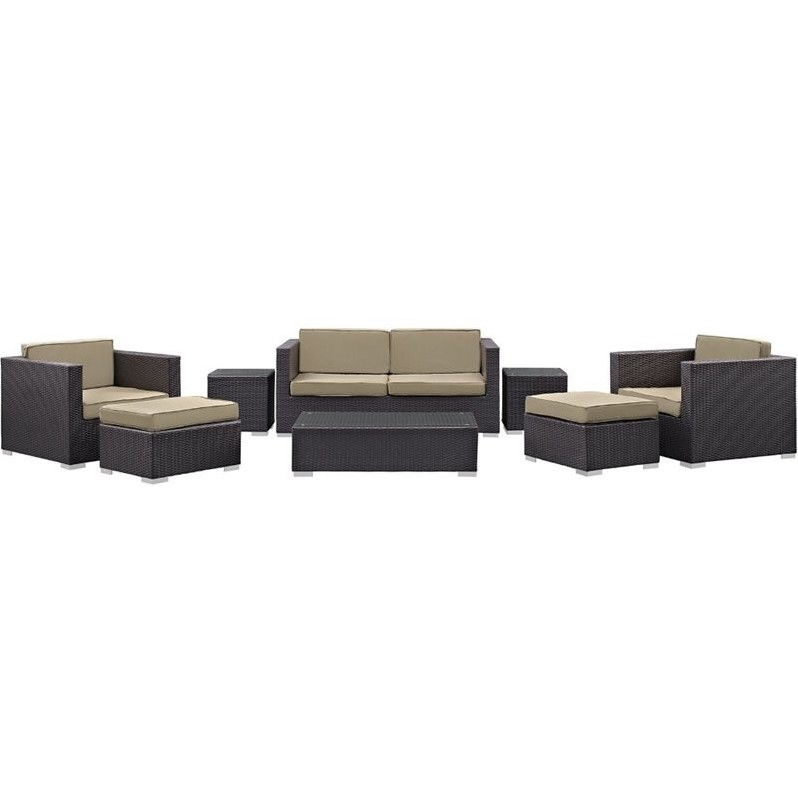 Venice Collection EEI-610-EXP-MOC-SET 8-Piece Sofa Set wi...
