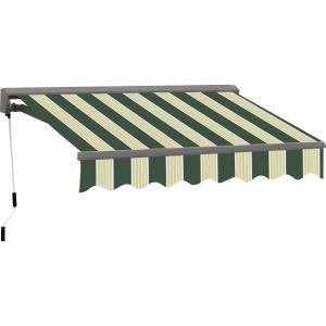 12FT C SERIES SEMI-CASSETTE ELECTRIC RETRACTABLE AWNING 10FT