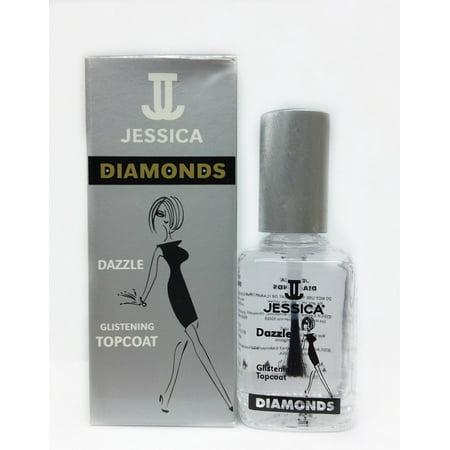 Jessica Nails Diamonds (Jessica Cosmetics International Jessica Diamonds Glistening Topcoat, 0.5 oz )