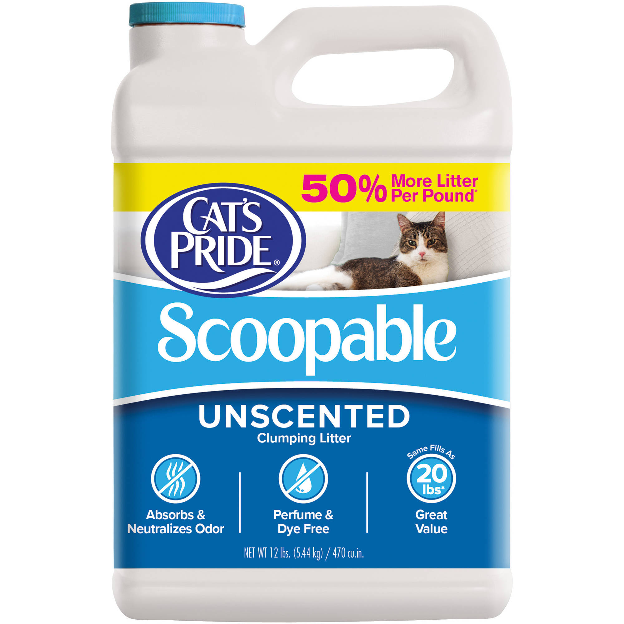Cat's Pride Scoopable Unscented Litter, 12 lbs