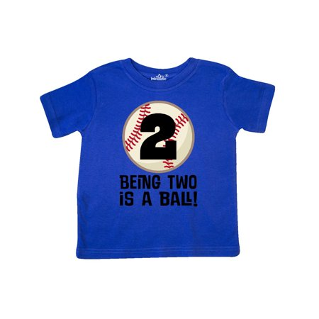 2nd Birthday Baseball 2 Year Old Boy Toddler T-Shirt