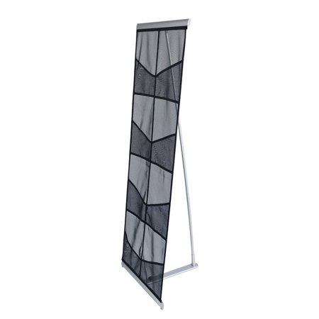 O-stand Tall Desktop Literature Racks - Signworld 8-Pocket Mesh Literature Magazine Catalog Brochure Rack Holder Stand Portable Trade Show Display for Magazines/Literature/Brochures (Trade Show, Show Room, Show Case)