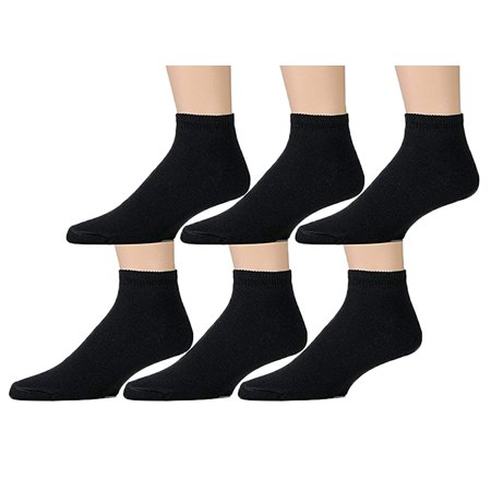 6 Pairs Value Pack of Wholesale Sock Deals Womens Ankle Socks, Black Sock, - Wholesale Accessories For Women