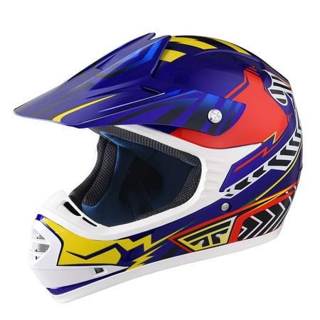 Youth Atv Helmet (Yescom DOT Youth Motocross Helmet Full Face Off Road Dirt Bike Motorcycle ATV Outdoor Sports S/M/L/XL )