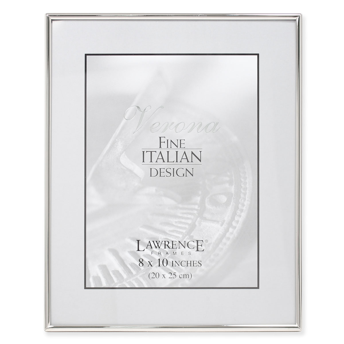 Click here to buy 8x10 Simply Silver Metal Picture Frame by Lawrence Frames.