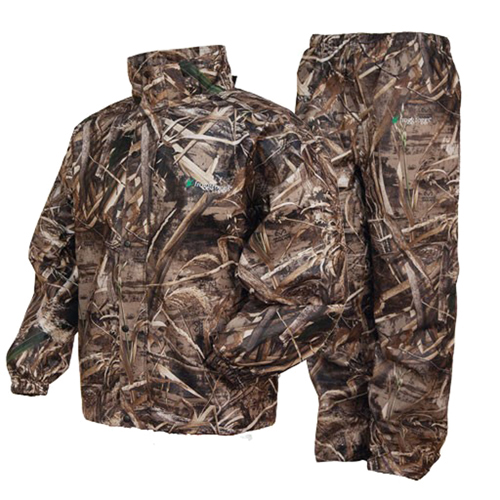 Click here to buy Frogg Toggs All Sports Camo Suit, Max 5 Camo by Frogg Toggs.