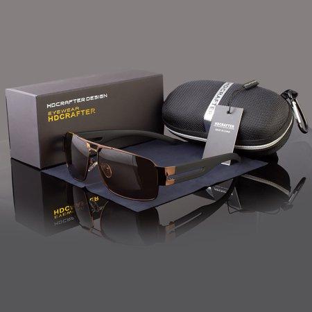 Men's Polarized Pilot Sunglasses Outdoor Driving Sun Glasses Sport Eyewear (Pepper's Sport Sunglass Case)